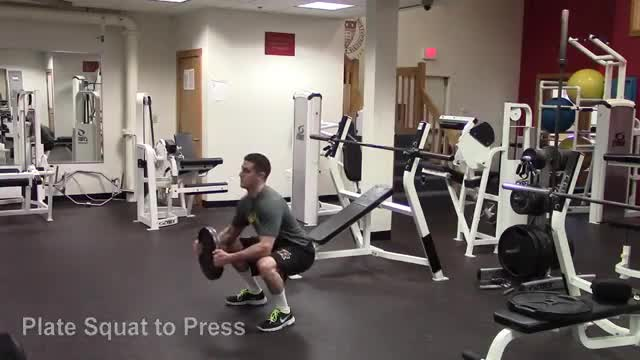 Plate Squat to Press demonstration