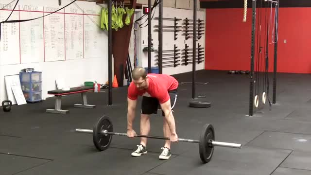 Barbell Straight-Leg Deadlift demonstration