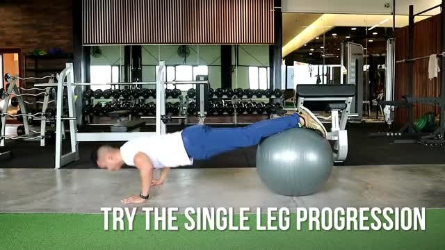 Pushup with Feet on Swiss Ball demonstration