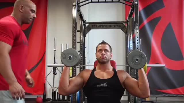 Standing Overhead Dumbbell Press using Neutral Grip demonstration