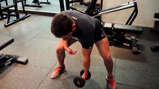 Standing Concentration Curl demonstration