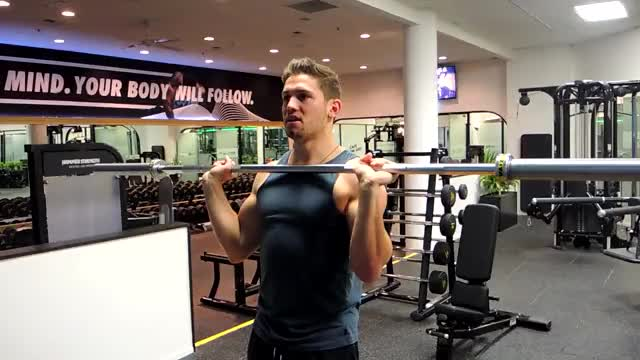 Barbell Push Press demonstration