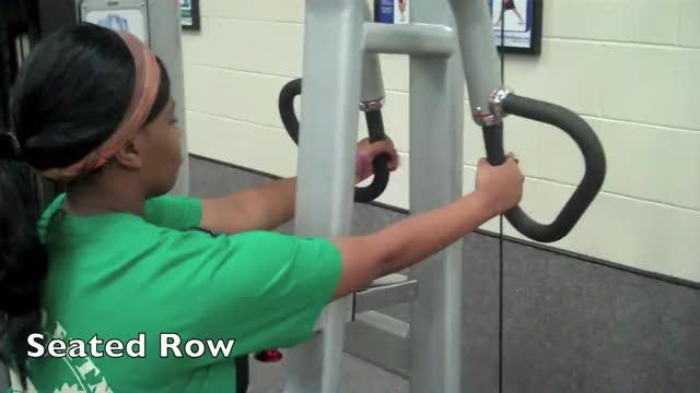 Female Machine Row demonstration