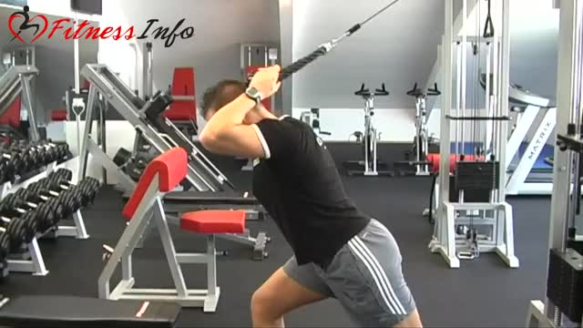 Cable Bent-over Triceps Extension demonstration