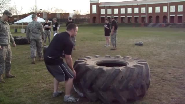 Tire Flips demonstration