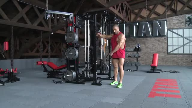 Cable One Arm Upright Row demonstration