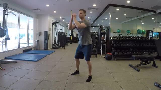 Bodyweight Goblet Squat demonstration