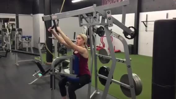 Female Lever Alternating Seated High Row demonstration