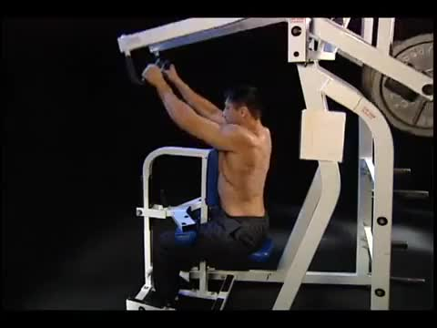 Lever Alternating Seated High Row demonstration