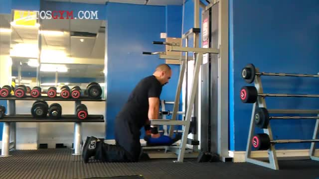 Sled Standing Triceps Dip demonstration