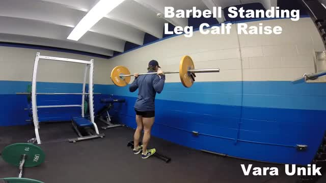 Barbell Standing Leg Calf Raise demonstration