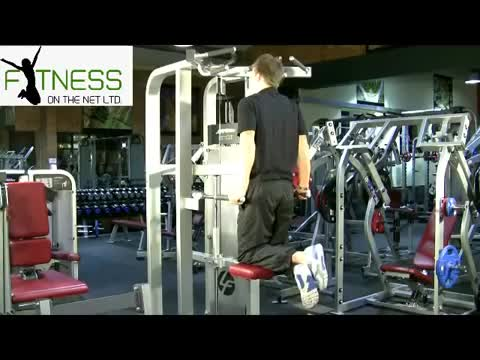 Machine-assisted Triceps Dip (kneeling) demonstration