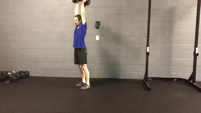 Dumbbell Overhead Lunge demonstration