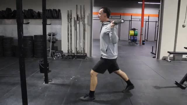 Male Barbell Split Squat demonstration