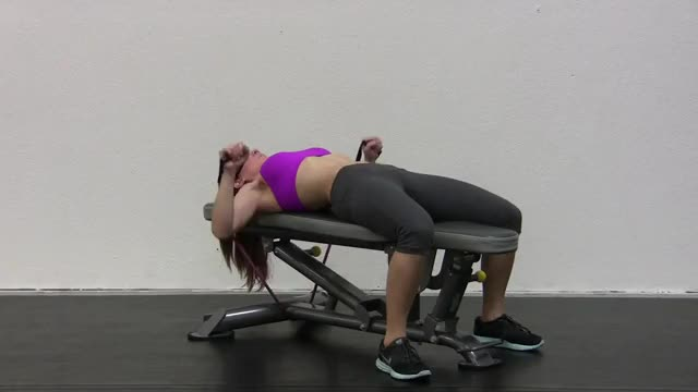 Female Bench Press - With Bands demonstration