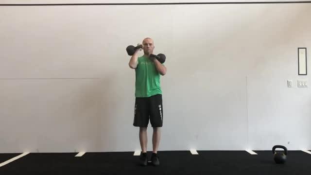 Kettlebell Alternating 1-Arm Press demonstration