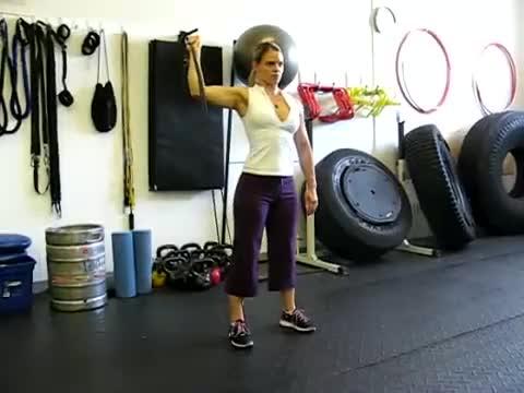 Female Single Arm Banded External Rotation demonstration