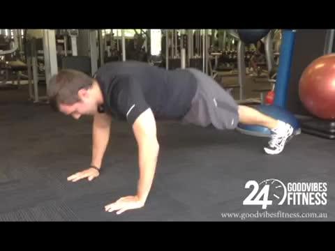 Male Alternating Reach Push Up demonstration
