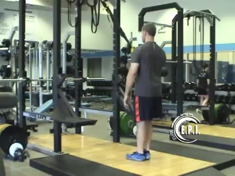 Male Suspension Twisting One Arm Row demonstration