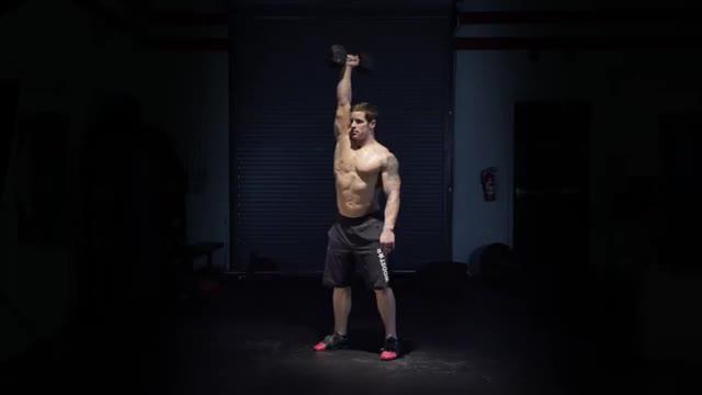 Single-Arm Dumbbell Overhead Squat demonstration
