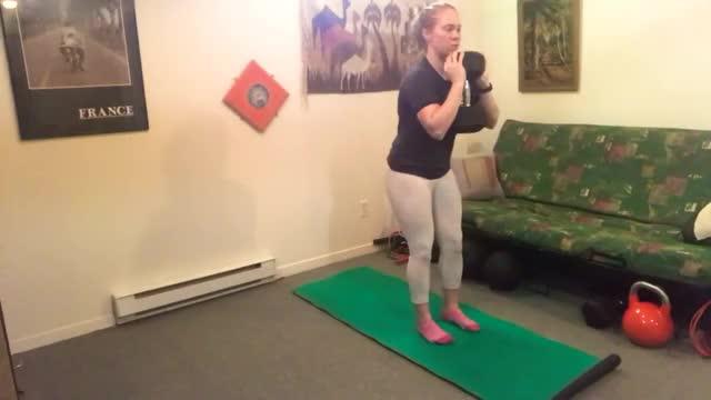 Female Dumbbell Goblet Back Step Lunge demonstration