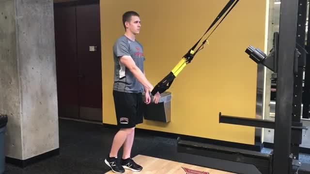 Suspension Single Leg Romanian Deadlift demonstration