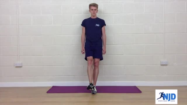 One Leg Bodyweight Wall Squat demonstration