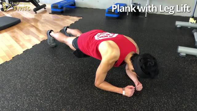 Plank with Leg Lift demonstration