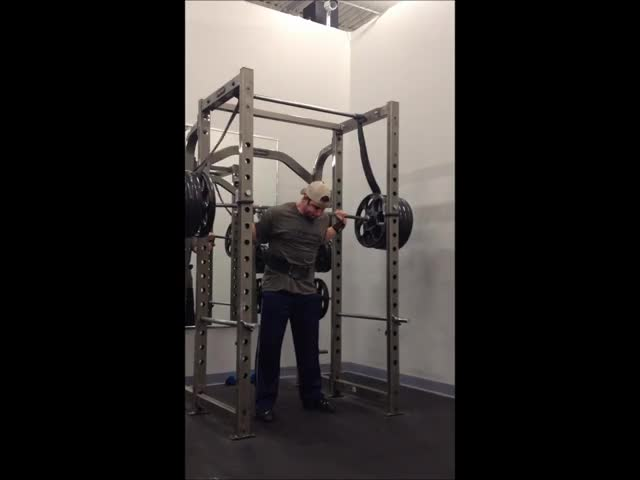 Reverse Band Power Squat demonstration