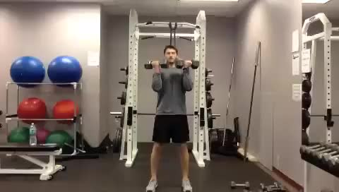 Alternate Standing Arnold Press demonstration