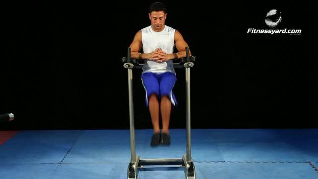 Male Vertical Leg-Hip Raise demonstration