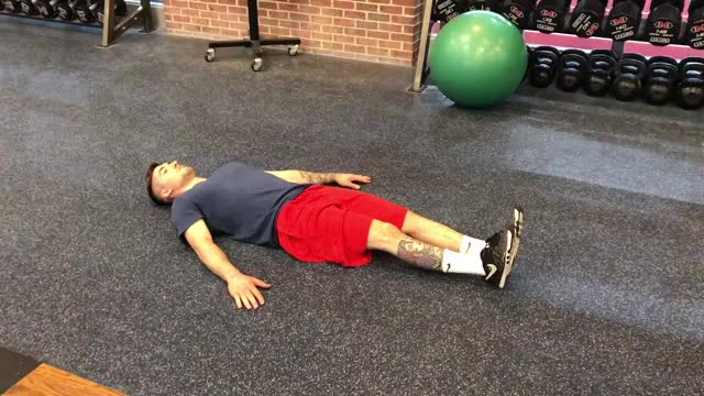Male Six Inches Ab Iso Hold demonstration