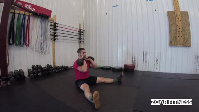 Alternating Kettlebell Z Press demonstration
