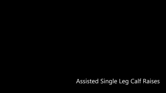 Female Self-assisted Leg Calf Raise demonstration