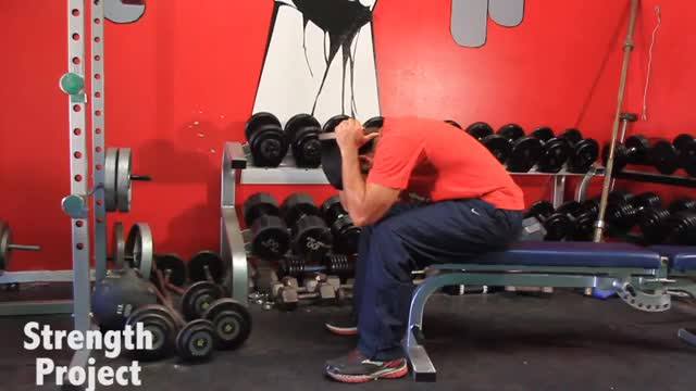 Male Weighted Neck Extension demonstration