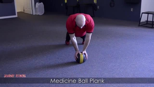 Male Medicine Ball Plank demonstration