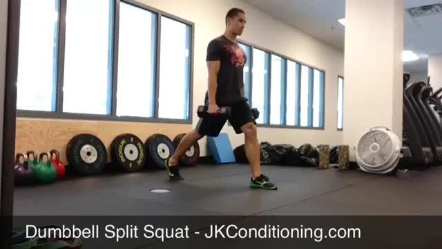 Dumbbell Split Squat demonstration
