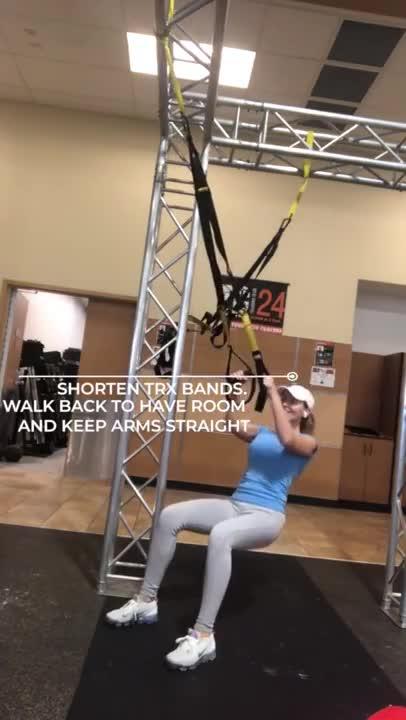 Female Suspension Squat Jump demonstration