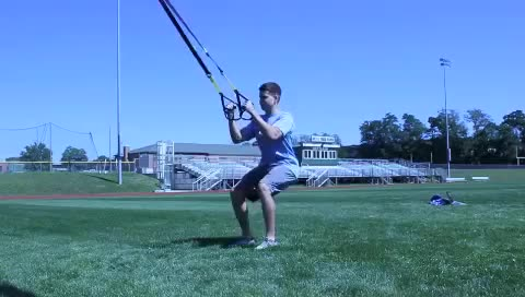 Suspension Squat Jump demonstration