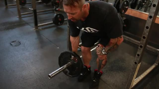 Lever One Arm Bent-over Row (plate loaded) demonstration