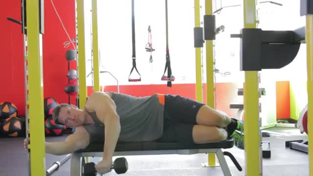 Lying One-Arm Lateral Raise demonstration