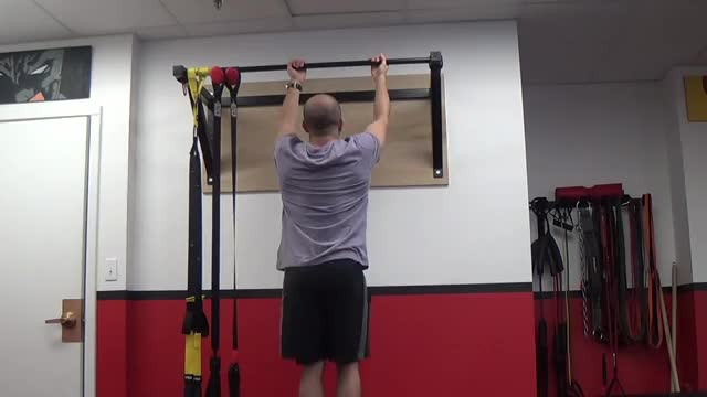 Male Eccentric Only Chin Up demonstration
