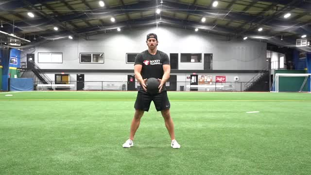 Medicine Ball Vertical Chop demonstration