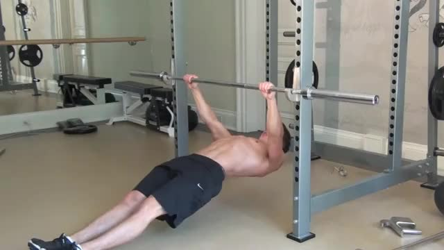 Rear Delt Inverted Row demonstration