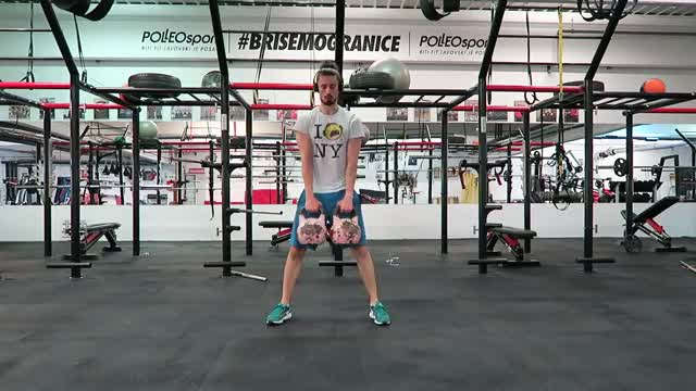 Double Kettlebell Deadlift demonstration
