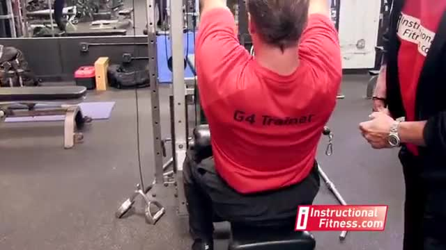 Lever Close Grip Pulldown (plate-loaded) demonstration