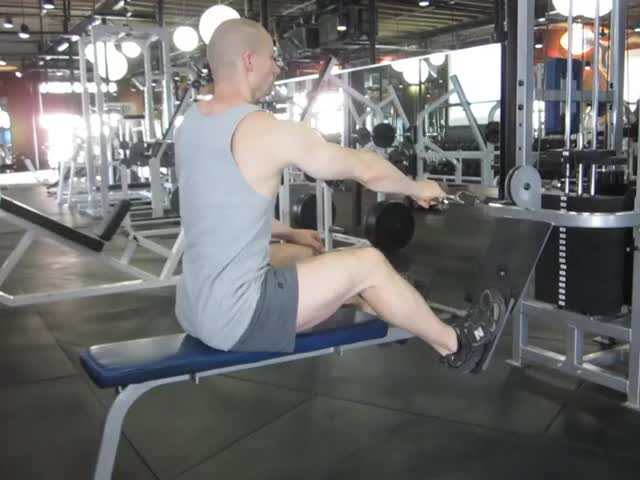 Male Cable One Arm Rear Delt Row demonstration