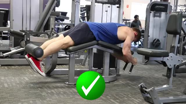 Lying Leg Curls demonstration