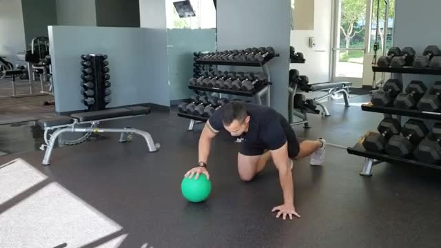 Self-assisted Plyo Push-up (on medicine ball) demonstration