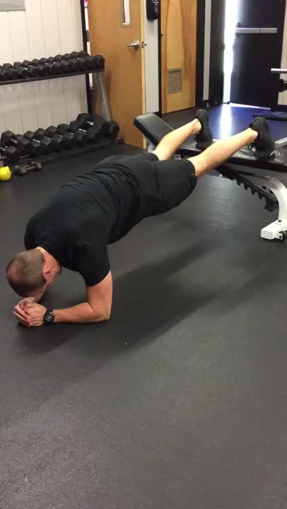 Plank With Feet On Bench demonstration
